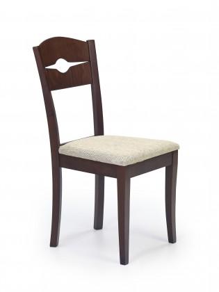 Jídelní židle Manfred - jídelní židle (krémová, ořech tmavý)