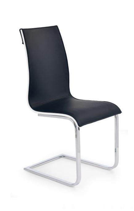 Jídelní židle Matteo  (eco kůže bílo-černá, chrom)