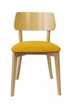 Jídelní židle Medal dub, žlutá
