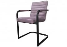 Jídelní židle Merenga černá, světle růžová
