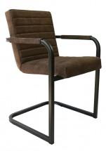 Jídelní židle Merenga černá, tmavě hnědá