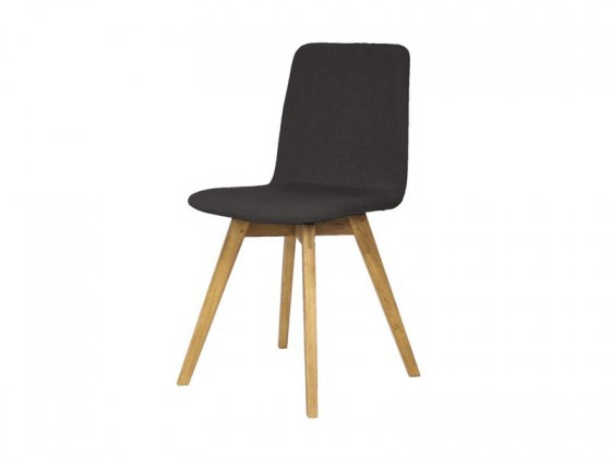 Jídelní židle Mia - Jídelní židle (dub, látka antracitová)