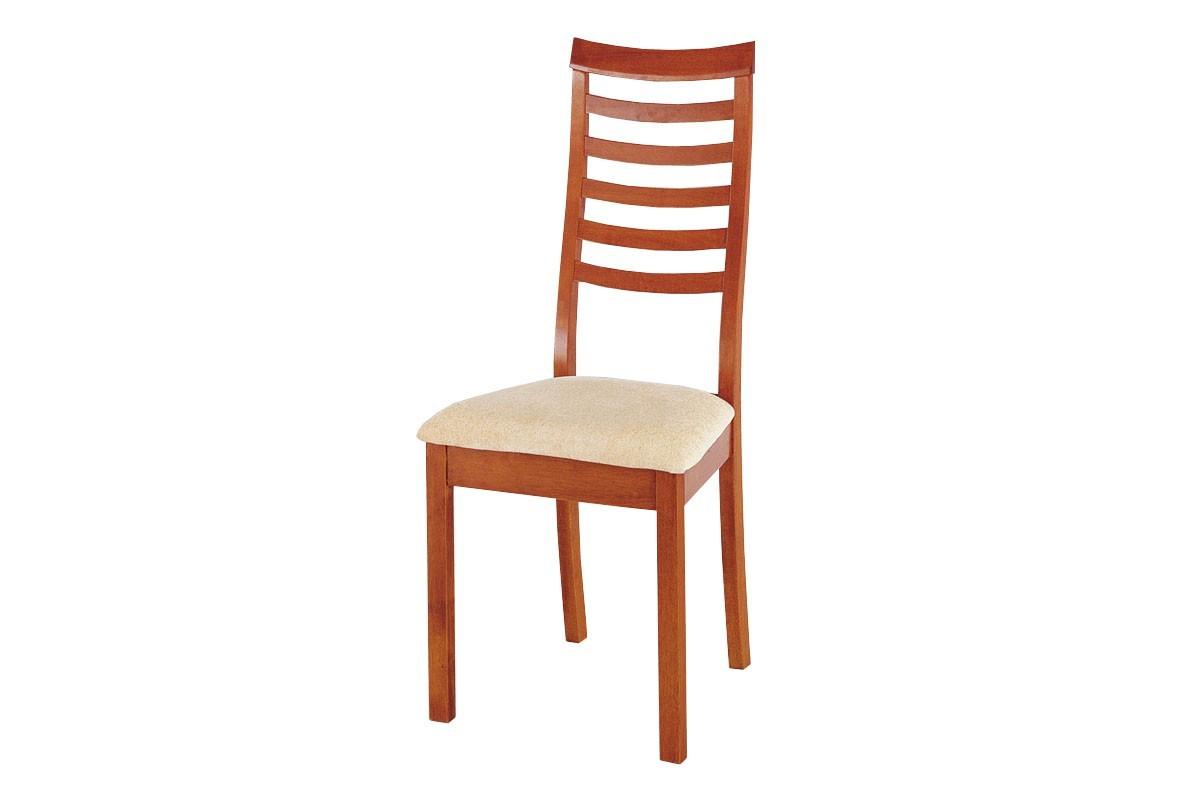 Jídelní židle NACIA(kaučukovník, moření třešeň,potah krémový)