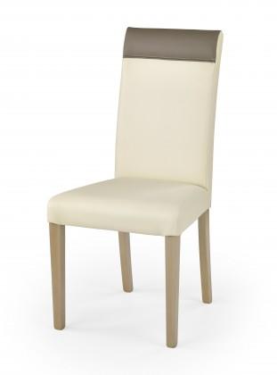 Jídelní židle Norbert - Jídelní židle (krémová, dub sonoma)