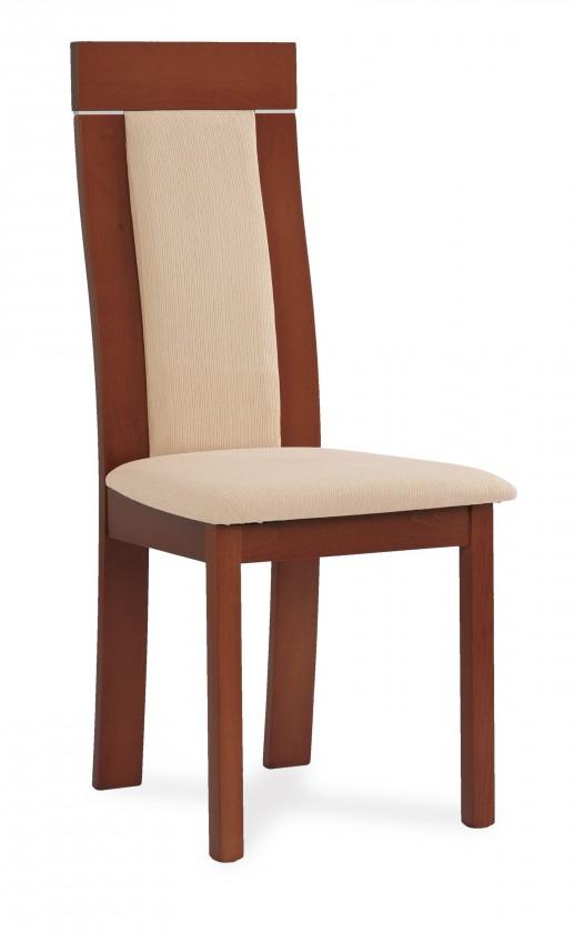 Jídelní židle OCANA(buk, moření třešeň,potah krémový)