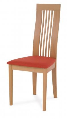 Jídelní židle OLIVESE(buk, moření buk,potah terracotta)