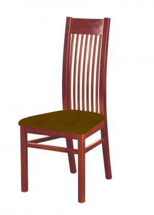 Jídelní židle Patrycja - jídelní židle (dřevo - ořech světlý/potah - syntetická kůže)