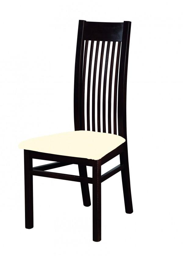 Jídelní židle Patrycja - jídelní židle (dřevo - wenge/potah - syntetická kůže)