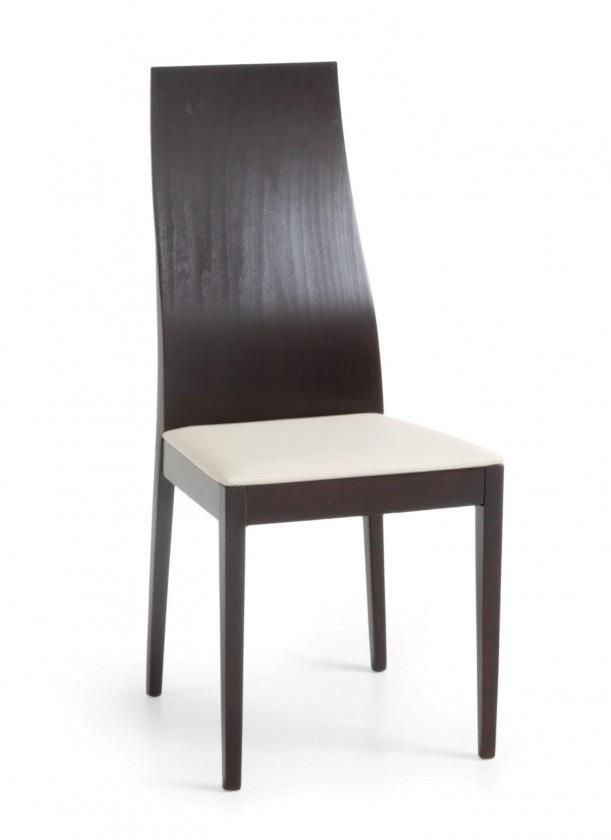 Jídelní židle Pinoza (wenge/látka carabu bílá)