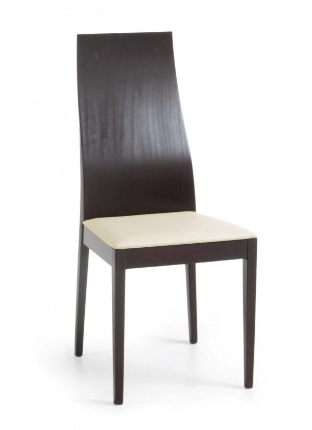 Jídelní židle Pinoza (wenge/látka carabu světle béžová)