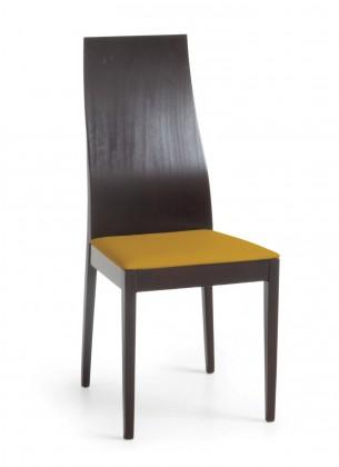 Jídelní židle Pinoza (wenge/látka navara hořčicová)