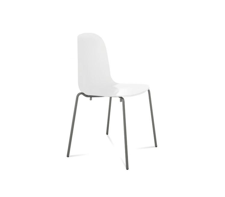 Jídelní židle Playa (lak antracit mat, bílá)