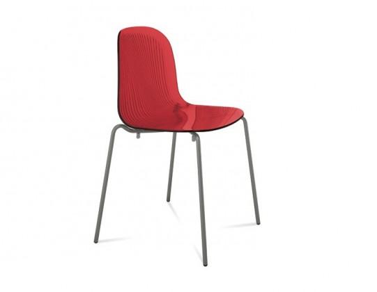 Jídelní židle Playa (lak antracit mat, červená bordó)