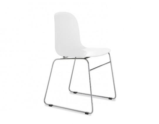 Jídelní židle Playa-T (chromovaná ocel, bílá)