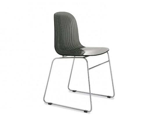 Jídelní židle Playa-T (chromovaná ocel, kouřová šedá)
