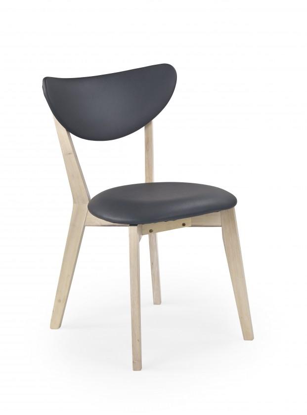 Jídelní židle Polo - Jídelní židle (šedá, bělené dřevo)