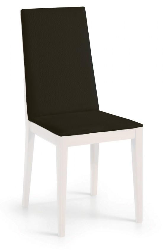 Jídelní židle Rabida  (bílá matná/eko kůže vienna černá)