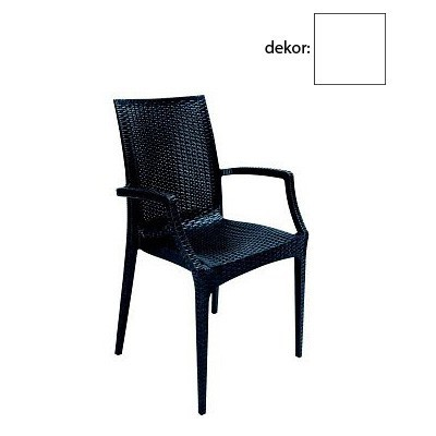 Jídelní židle Rattan křesílko(bianco)