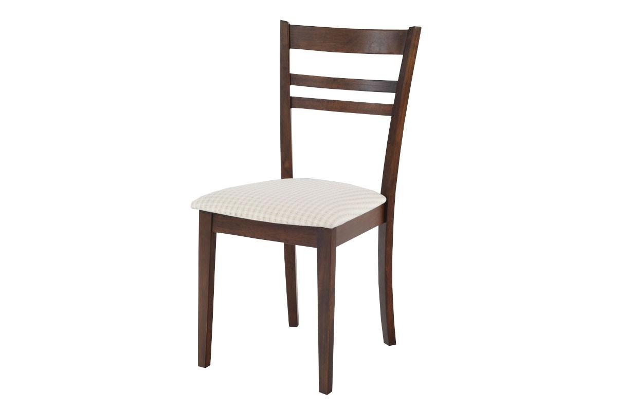 Jídelní židle SARULE(kaučukovník, moření ořech,potah světlý)