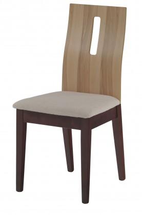 Jídelní židle SEDINI(kaučukovník, moření ořech / buk,potah krémový)