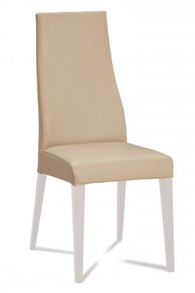 Jídelní židle Semora (bílá mat/eko kůže vienna béžová)