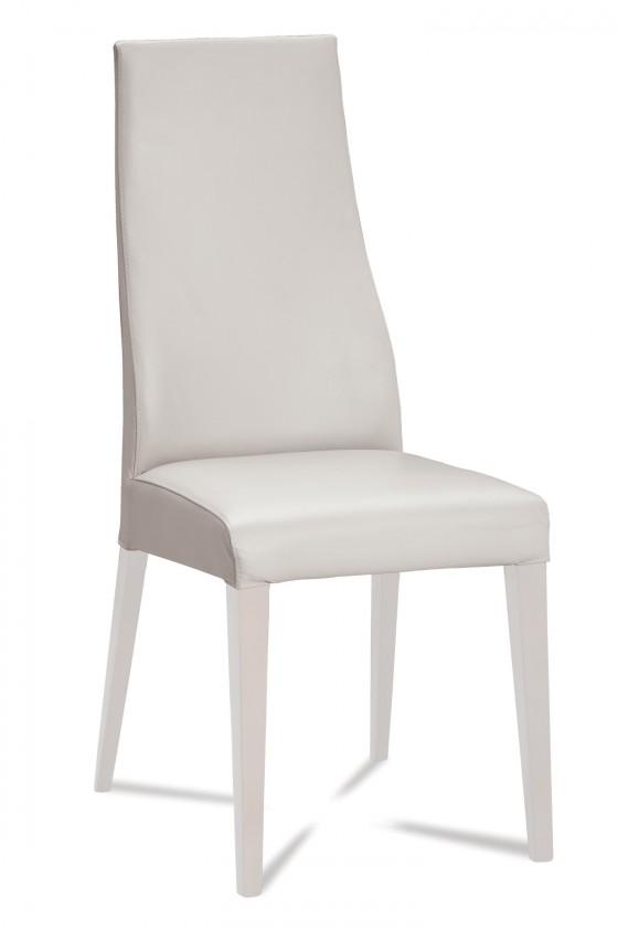 Jídelní židle Semora (bílá mat/eko kůže vienna bílá)