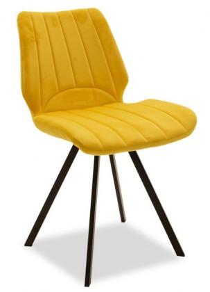 Jídelní židle Stacy černá, žlutá