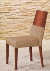 Jídelní židle Timoteo béžová, třešeň