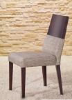 Jídelní židle Timoteo šedá, wenge