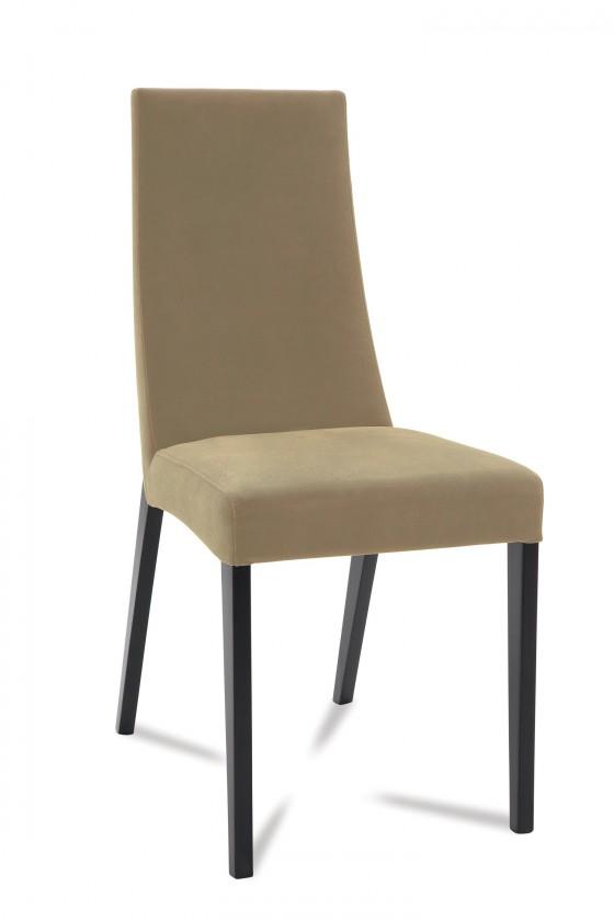 Jídelní židle Tortuga (černá/eko kůže vienna hnědá)