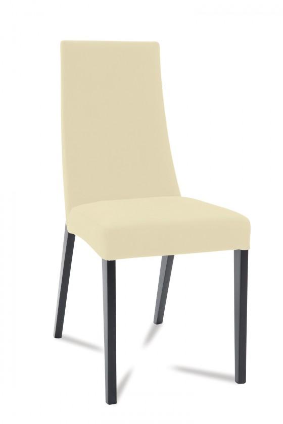 Jídelní židle Tortuga (černá/eko kůže vienna krémová)