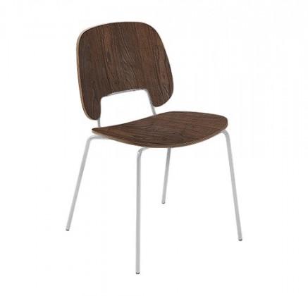 Jídelní židle Traffic - Jídelní židle (lak bílý matný, čokoládový jasan)