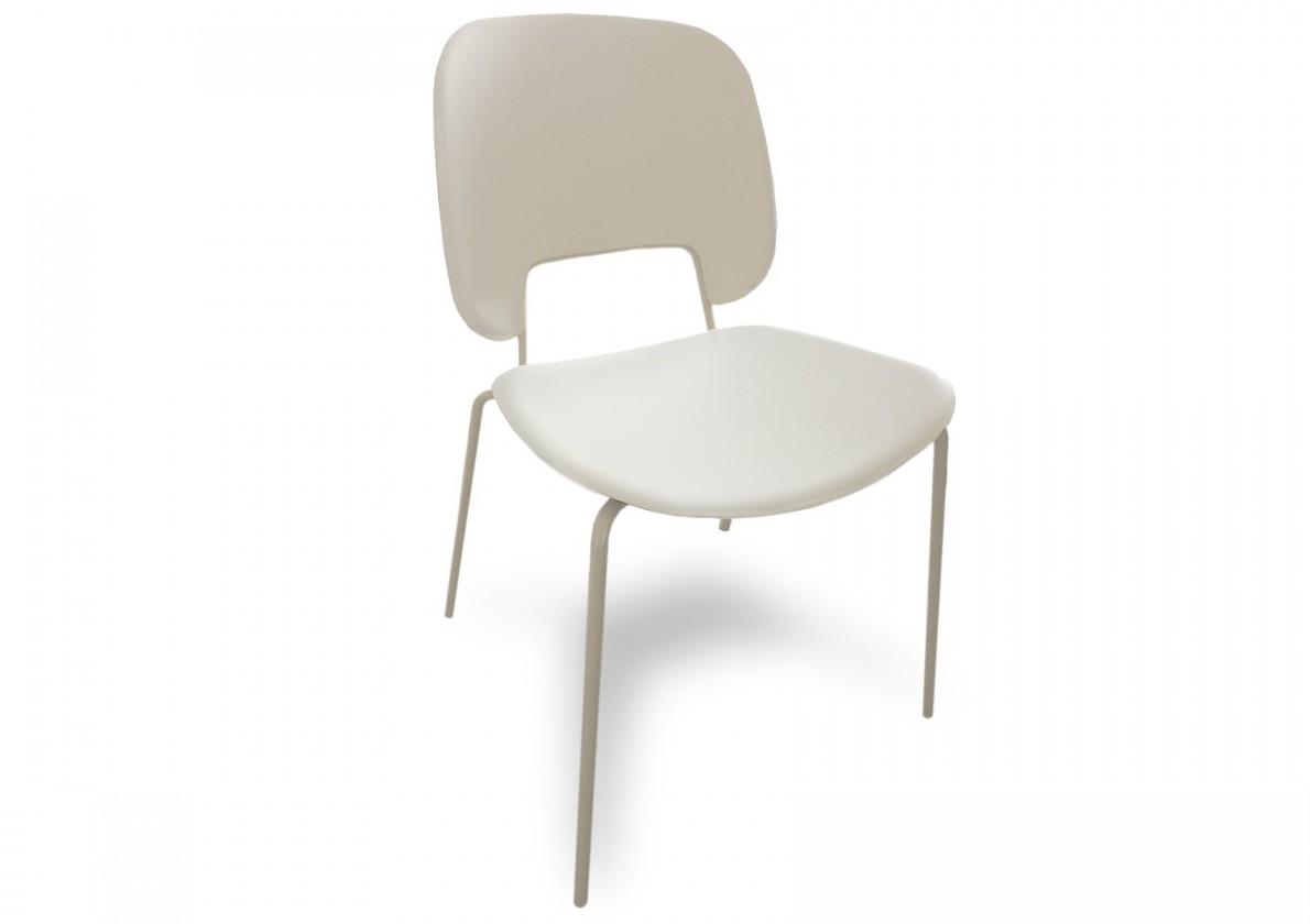 Jídelní židle Traffic - Jídelní židle (lak bílý matný, plast bílá)