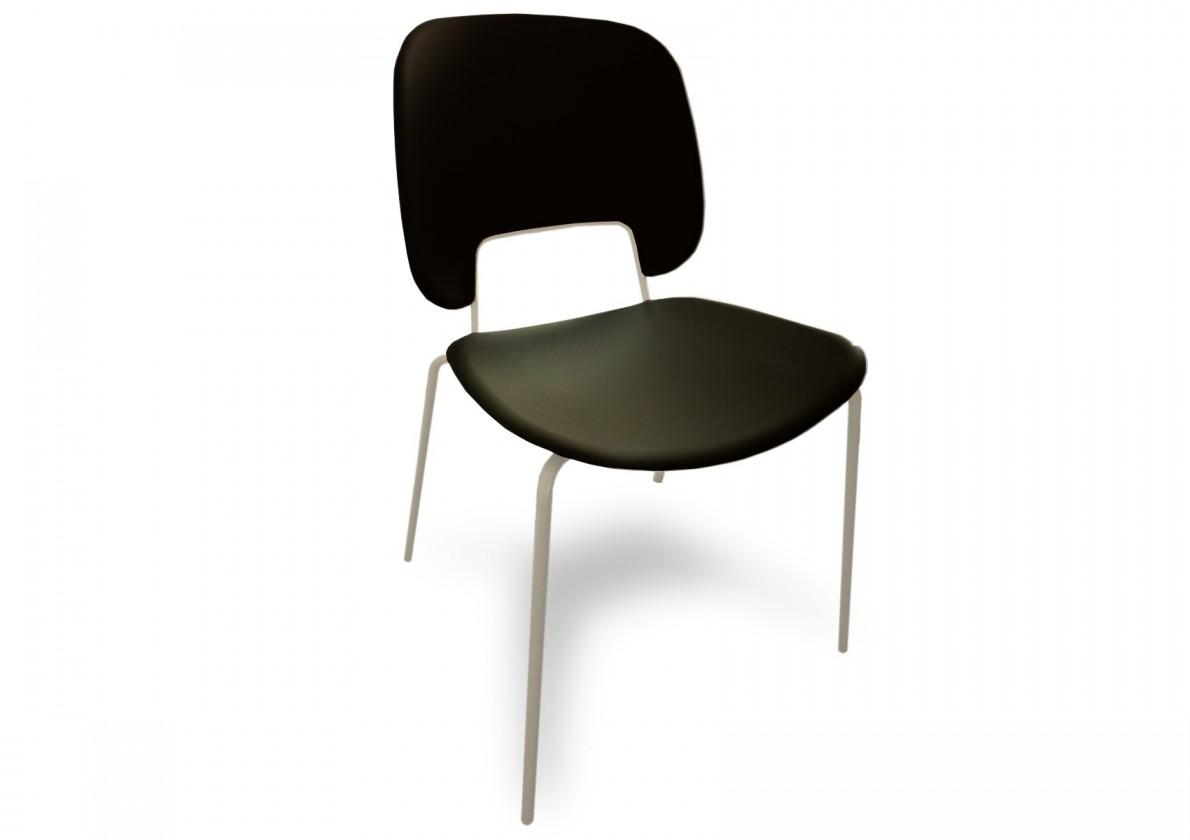 Jídelní židle Traffic - Jídelní židle (lak bílý matný, plast černá)