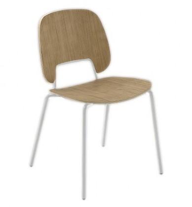 Jídelní židle Traffic - Jídelní židle (lak bílý matný, světlý dub)
