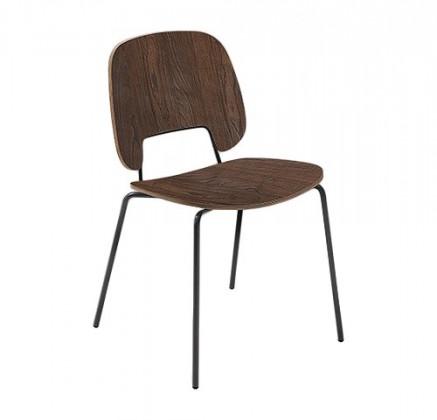 Jídelní židle Traffic - Jídelní židle (lak černý matný, čokoládový jasan)