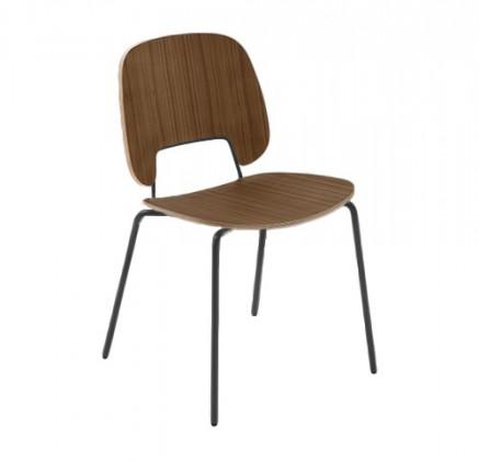 Jídelní židle Traffic - Jídelní židle (lak černý matný, ořech)