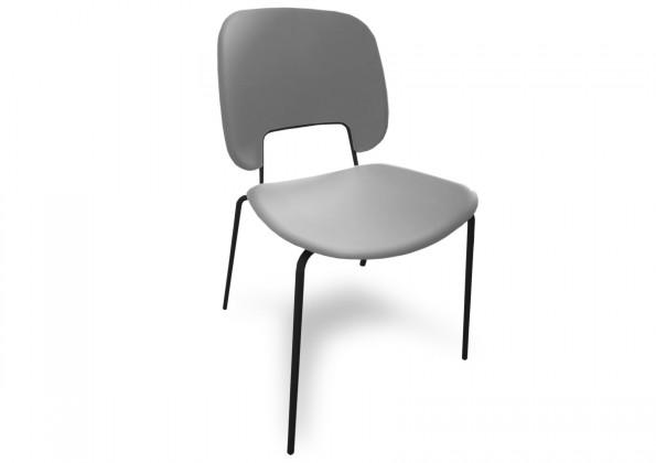 Jídelní židle Traffic - Jídelní židle (lak černý matný, plast sv. šedá)