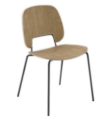 Jídelní židle Traffic - Jídelní židle (lak černý matný, světlý dub)