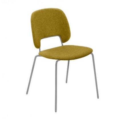 Jídelní židle Traffic - Jídelní židle (lak pískový matný, látka hořčicová)