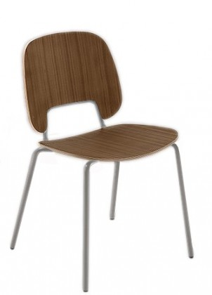 Jídelní židle Traffic - Jídelní židle (lak pískový matný, ořech)
