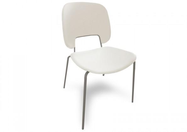 Jídelní židle Traffic - Jídelní židle (lak pískový matný, plast bílá)