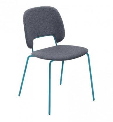Jídelní židle Traffic - Jídelní židle (lak tyrkysový matný, látka jeans)