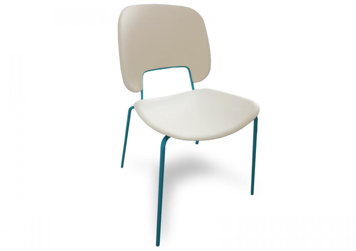 Jídelní židle Traffic - Jídelní židle (lak tyrkysový matný, plast bílá)