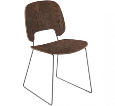 Jídelní židle Traffic-t - Jídelní židle (chromovaná ocel, čokoládový jasan)