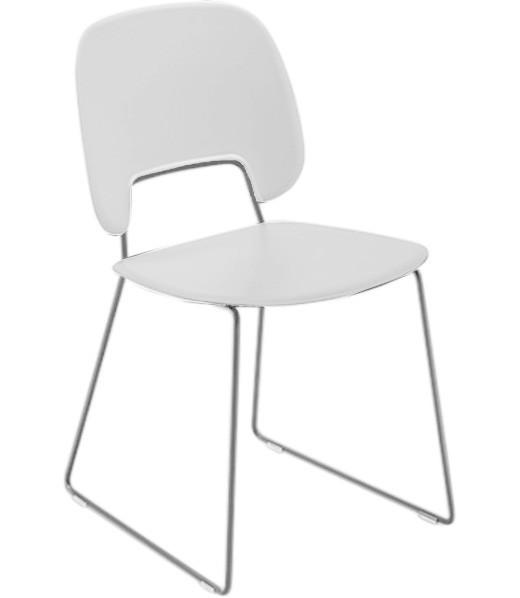Jídelní židle Traffic-t - Jídelní židle (chromovaná ocel, plast bílá)