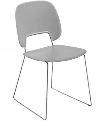 Jídelní židle Traffic-t - Jídelní židle (chromovaná ocel, plast sv. šedá)