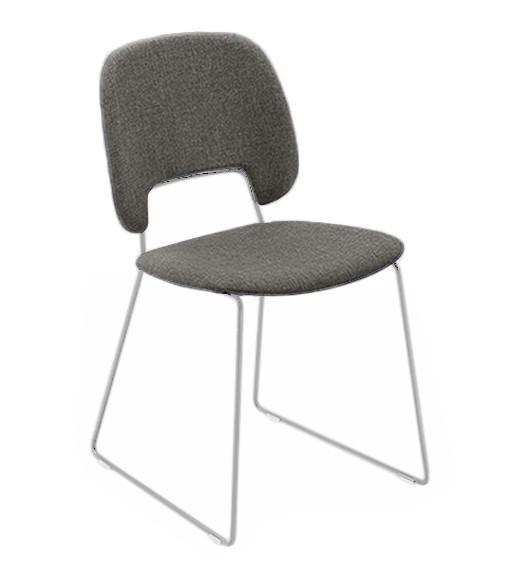 Jídelní židle Traffic-t - Jídelní židle (lak bílý mat, látka hnědá)