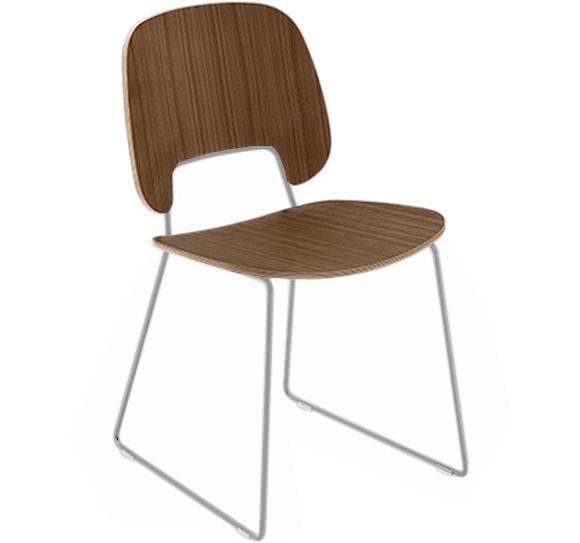 Jídelní židle Traffic-t - Jídelní židle (lak bílý mat, ořech)