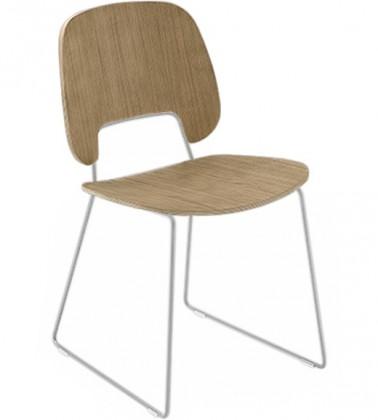 Jídelní židle Traffic-t - Jídelní židle (lak bílý mat, světlý dub)